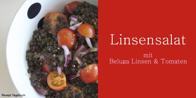 Beluga Linsensalat mit Kirschen und Senf